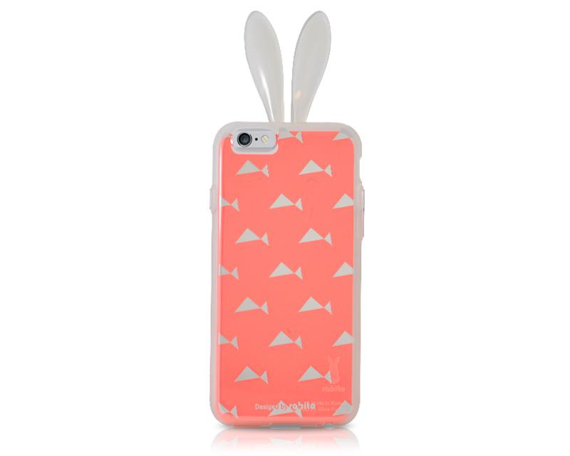 Rabito Inner Layer Series iPhone 6 Silicone Case - Pink/Triangle Fish