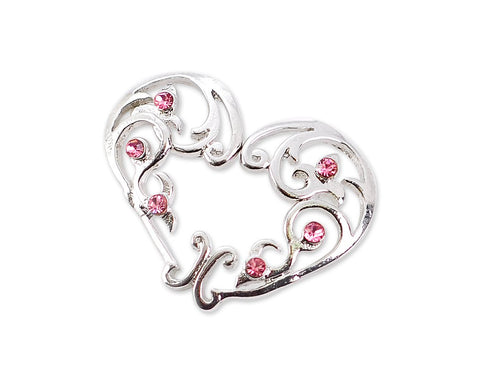 Sexy Heart Non Pierce Clip On Nipple Ring with Crystal