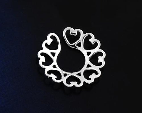 Sexy Vintage Heart Non Pierce Clip On Nipple Ring