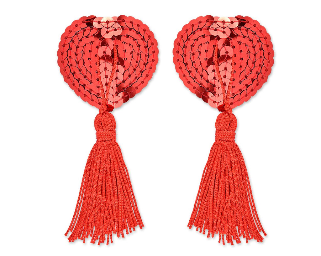 Sexy Silicone Naughty Heart Shaped Nipple Tassels