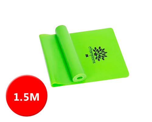 1.5M Multi Gym Sports Equipment Latex Yoga Belt Stretch - Green