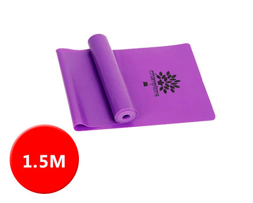 1.5M Multi Gym Sports Equipment Latex Yoga Belt Stretch - Purple