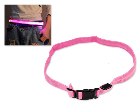 LED Jogging Waist Belt - Pink