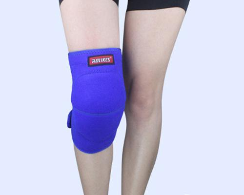 1Pc Elastic Thick Sponge Knee Pad - Blue