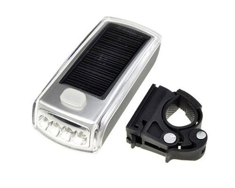 4 LED Bike Bicycle USB 2.0 Rechargeable Solar Front Head Light