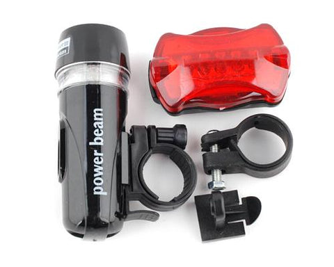 Super Bright Bike Bicycle 5 LED Headlight 5 LED Taillight Set