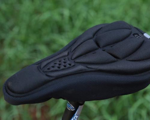 Bike Bicycle Resilience Breathable Comfort Saddle Seat Cover-Black