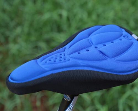 Bike Bicycle Resilience Breathable Comfort Saddle Seat Cover-Blue