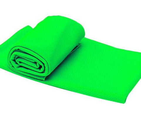 Breathable Chill Absorbent Evaporative Cooling Ice Towel - Green