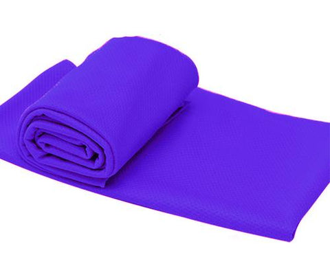 Breathable Chill Absorbent Evaporative Cooling Ice Towel - Purple