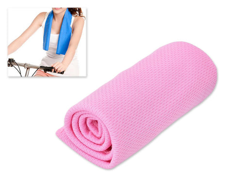 Breathable Chill Absorbent Evaporative Cooling Ice Towel - Pink