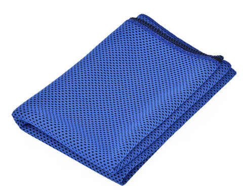 Breathable Chill Absorbent Evaporative Cooling Ice Towel - Dark Blue
