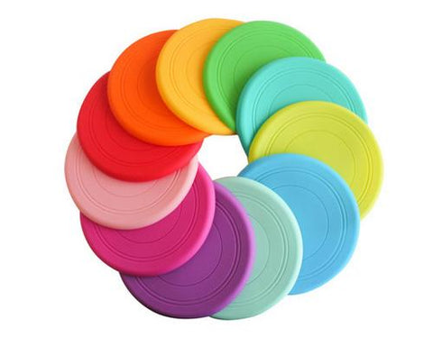 Silicone Pet Dog Flying Saucer Training Frisbee
