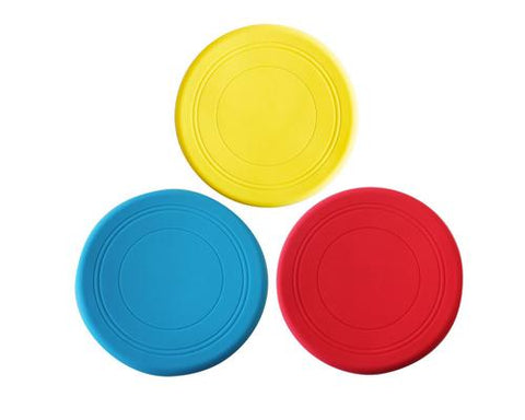 3 Pcs Silicone Pet Dog Flying Saucer Training Frisbee Set