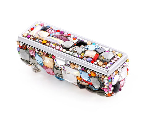 Wonderful Swarovski Crystal Lipstick Case With Mirror