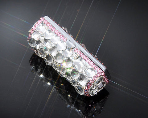 Princess Swarovski Crystal Lipstick Case With Mirror