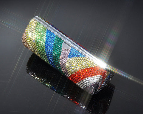 Trendy Swarovski Crystal Lipstick Case With Mirror