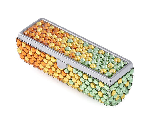 Gradation Swarovski Crystal Lipstick Case With Mirror - Summer