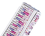 Medley Swarovski Crystal Lipstick Case With Mirror - Purple