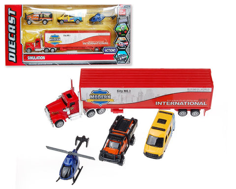 Set of 4 Toy Car Model Bundle Set