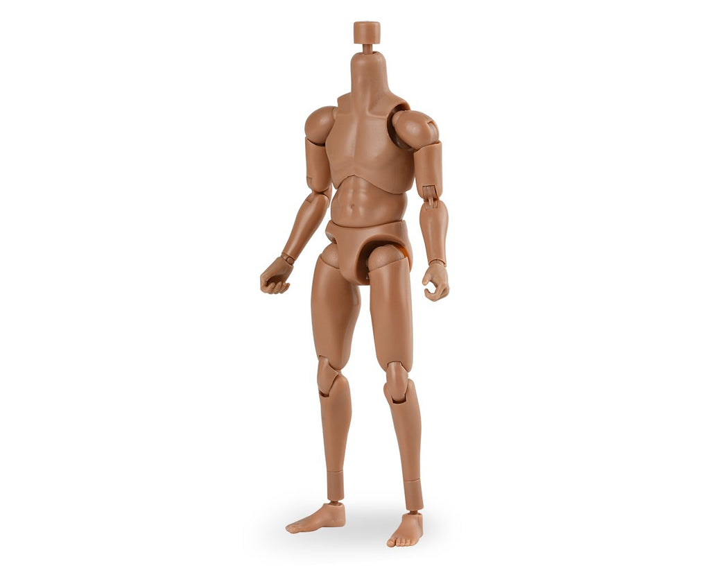 1/12 Scale Male Body Narrow Shoulder Standard 6 Inch Action Figure with 10 Interchangeable Hands