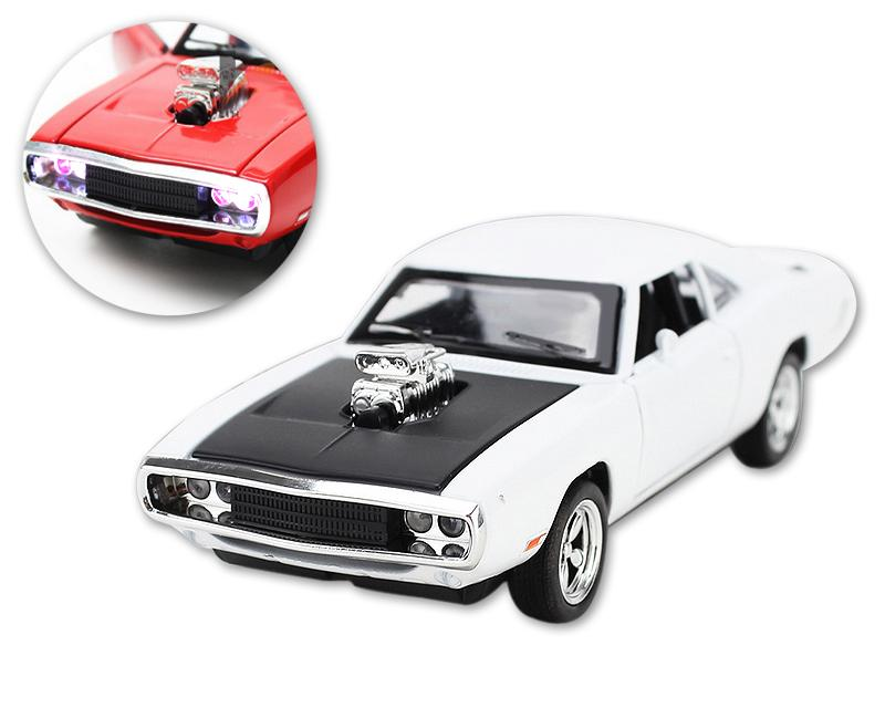 Mustang Series Alloy Toy Model Car with Music Light - White