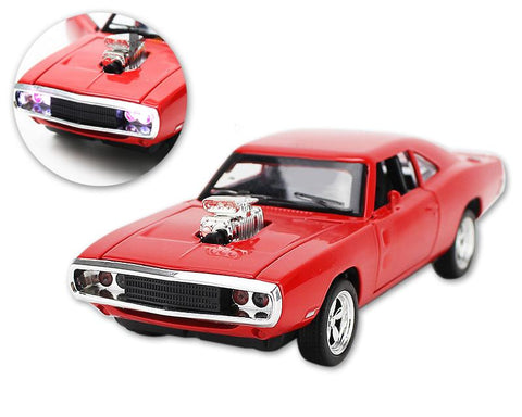 Mustang Series Alloy Toy Model Car with Music Light - Red