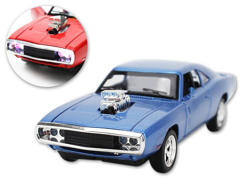 Mustang Series Alloy Toy Model Car with Music Light - Blue