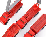 Set of 4 1:64 Fire Engine Alloy Toy Car Model