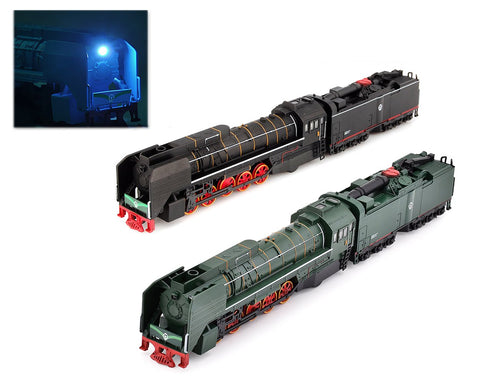 DS. DISTINCTIVE STYLE 1:87 Alloy Steam Locomotive Traction Engine Trains Toy Model with Music Light