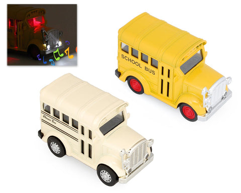 Blue Bird Vision School Bus Toy Model with Music Light