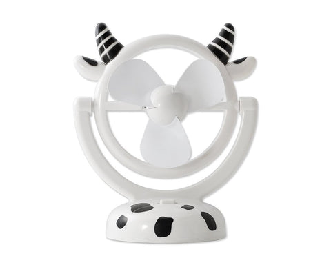 180 Degree Rotation Rechargeable Desktop USB Mini Cooling Fan - Cow