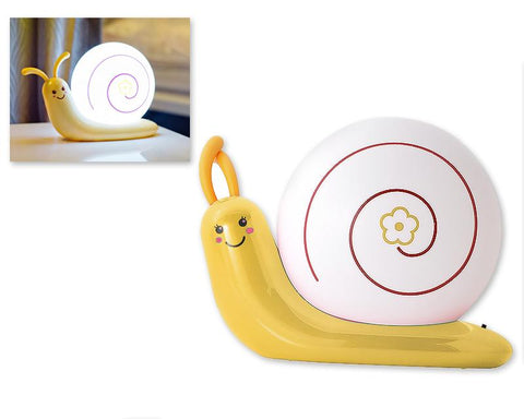 USB Rechargeable LED Nursery Night Light -Yellow Snail
