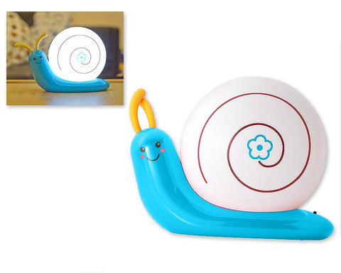 USB Rechargeable LED Bedroom Nursery Night Light Lamp-Blue Snail