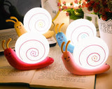 USB Rechargeable LED Bedroom Nursery Night Light Lamp-Pink Snail