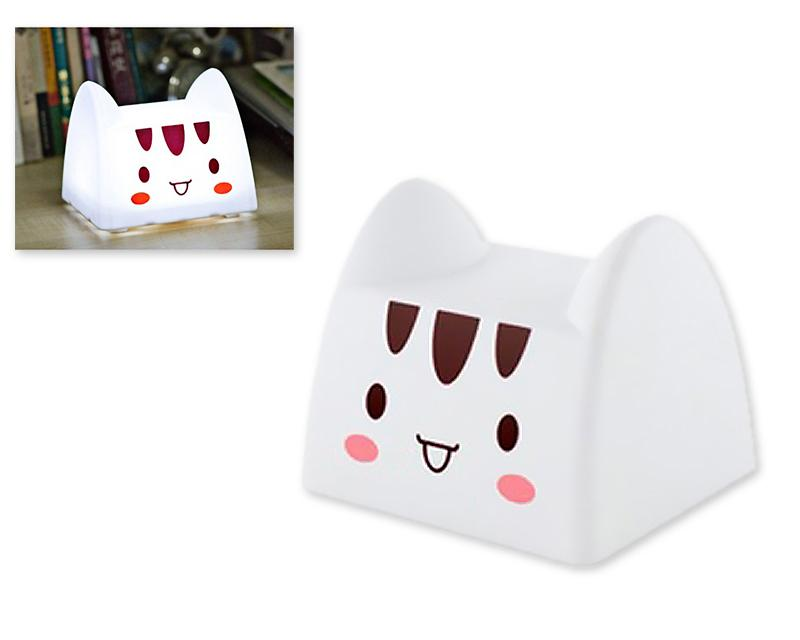 Cartoon USB Charging LED Nursery Night Light for Children - Cat