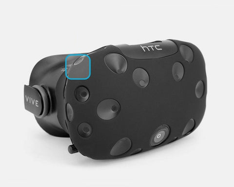 Headset Silicone Skin and VR Controller Protectors Compatible for HTC Vive