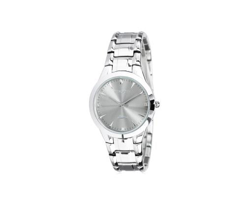 PANGCHI Luxury Metallic Gray Dial Silver Stainless Steel Men Watch