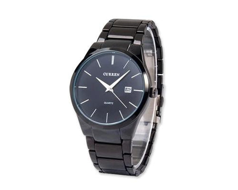 CURREN Metallic Stainless Steel Date Round Dial Men Watch