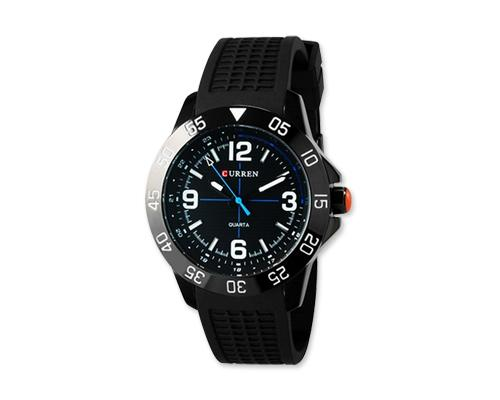 CURREN Metallic Case Silicone Wrist Band Boys Watch
