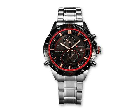 CURREN Date Stainless Steel Quartz Sport Men Wrist Watch