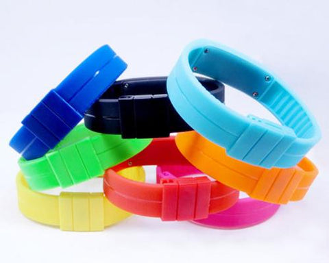 10 Pcs Wholesale Colorful Silicone Digital LED Wrist Sport Watches