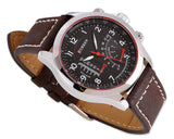 CURREN Racer Stylish Matte Leather Band Men Wrist Watch