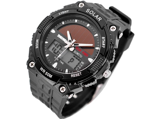 SKMEI Waterproof Men's Solar Outdoor Sport Combination Watch
