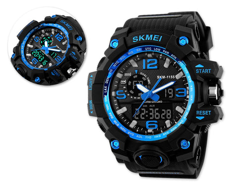 SKMEI Luminous Water Resistant Digital Analog Watch 1155