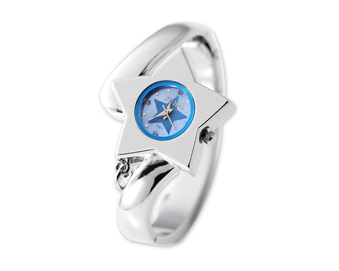 Little Star Women Crystal Bangle Watch