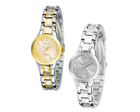 PANGCHI Luxury Metallic Stainless Steel Women Watch