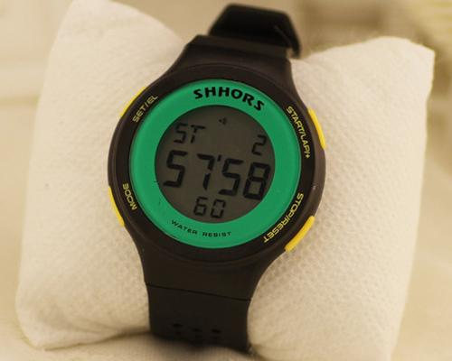 SHHORS Sports Water Resistant Jelly Girls Digital Watch