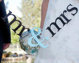 Mr. And Mrs. Wedding Photo Booth Props Banner - Ice Blue