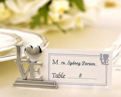 Love Wedding Place Card Holder
